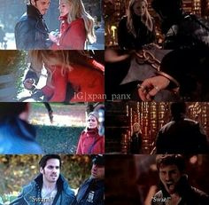 "Parallels 3x12 ~ 2x06. But this time Hook didn't give up on her. He wasn't even angry. All he said was ""your family needs you"". This is what we call character development."