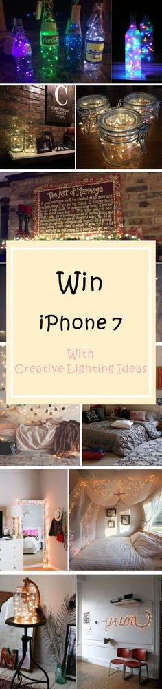 How to Win iphone7 ★ Just Join Oak Leaf Lighting Decor Contest  Lighting Decor Contest is on Follow these 2 steps for your chance to get iPhone7:  1.Use string lights bought from Oak Leaf to make creative decorations,and photograph your decorations (Oak Leaf's logo must be shown in your pictures). 2.Submit your photo,invite your friends to vote for you. The iPhone7 goes to the most creative fan with the highest vote!