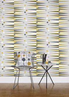 Mini Moderns mustard backgammon wallpaper