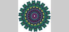 Mandalas are colorful, circular designs. [thailand crafts for kids]