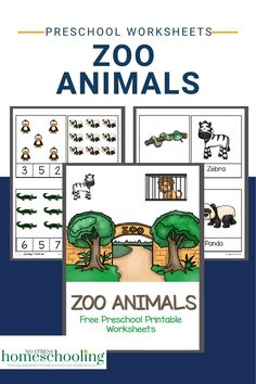 Zebra, Hippo and Crocodiles- how many zoo animals can your preschooler name? Try these free printable zoo animals worksheets. Printable Handwriting Worksheets, Letter Worksheets For Preschool, Preschool Letters, Preschool Printables, Reading Worksheets, Preschool Zoo Theme, Free Preschool, Zoo Book, Kindergarten Books