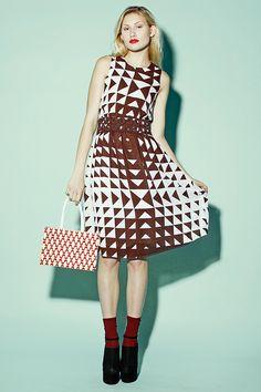 Vintage 70s Geometric Pyramid Dress http://thriftedandmodern.com/vintage-70s-geometric-pyramid-dress