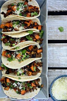Chorizo, Sweet Potato and Black Bean Tacos l SimplyScratch.com