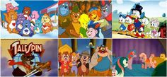 Care Bears, Gummi Bears, Duck Tales, Tale Spin and My Little Ponies. Back when cartoons rocked!