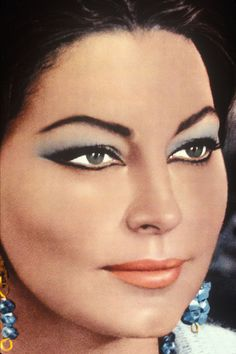 Ava Gardner || Looks like her makeup from 'The Bible: In the Beginning' when she played Sarah, wife of Abraham