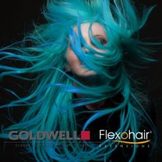 teal Hair Goldwell Elumen Pure Tq@all #hairColor #Teal #peacock #woman #Goldwell #beauty
