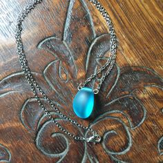 A personal favorite from my Etsy shop https://www.etsy.com/listing/532351689/sea-glass-necklace-blue-sea-glass