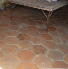 Antique Reclaimed French Hexagon Format Terracotta Tiles