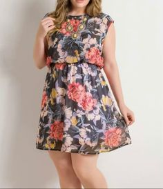 Vestidos Plus Size, Look, Jean Dress Outfits, White Dress, Block Prints