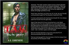 Cover Reveal - T.A.G. You're Seen by A.G. Carothers