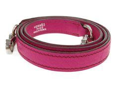 HERMES-Leather-Shoulder-Strap-For-Kelly-Rose-shocking-Chevre-Coromandel-3141885
