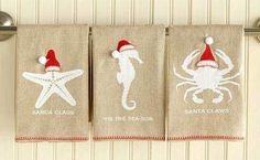 Beach Santa Towels: http://ocean-beach-quotes.blogspot.com/2015/10/beach-santa-towels.html