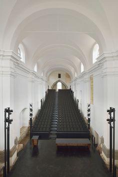 ptuj monastery turned performance center by enota #architettura