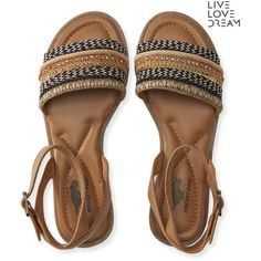 Aeropostale Rocket Dog Arena Sandal (€37) ❤ liked on Polyvore featuring shoes, sandals, multi, aéropostale, cushioned shoes, synthetic shoes, aeropostale sandals and buckle sandals