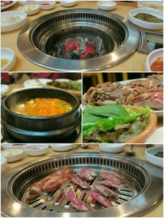 Korean BBQ in Itaewon, Seoul, South Korea