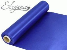 20m Roll Royal Blue Satin Fabric for Weddings, Table Runners, Sashes and Swags £8.44