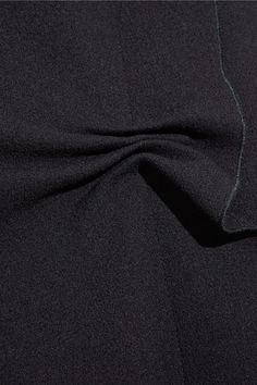 Midnight-blue wool-crepe Concealed hook and zip fastening at back  100% wool Dry clean Made in Italy