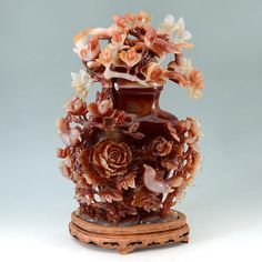 3 LARGE CARVED CARNELIAN AGATE SCULPTURES : Lot 1032