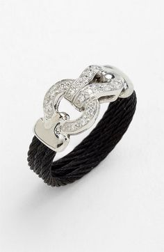 Charriol 'Classique' Diamond Knot Cable Ring available at #Nordstrom - GORGEOUS!