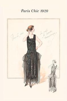Evening Dress; Paris Chic 1920