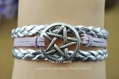 Silver braided leather braceletRetro Silver by TheGiftWorld, $2.50 Fashion handmade leather bracelet crafted personality