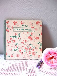 This is a lovely little book containing poems of the great French classics. These are all of the poems concerning children.  This is an adorable antique childrens book.  It measure : 6.69 x 4.72 inches  It weighs 6,7 ounces ( 190 grams ) The title is : Here are roses ( Voici des roses )  It date from 1953  ............................................................................................................. Payment is accepted through PAYPAL and all major CREDIT CARDS…