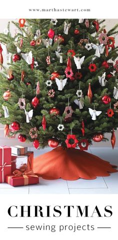 Christmas Sewing Projects | Martha Stewart Living - Feeling spirited, and a little bit crafty? Break out your needle and thread -- or your sewing machine -- and stitch up these festive holiday decorations and gifts.