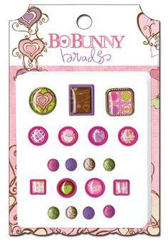 Bo Bunny Press - Smoochable Collection - Brads at Scrapbook.com $4.49
