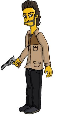 Rick Grimes Tv Show Simpson Style by TheWalkerPrieton on DeviantArt