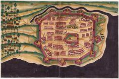 Vintage Infographic Baçaim Fortress (1635)