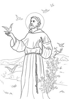 st.-anthony-of-padua-coloring-page.jpg 1,226×1,600 pixels