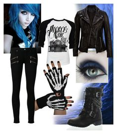 """""""Pierce the Veil"""" by riotofthedamned ❤ liked on Polyvore featuring SELECTED, Paige Denim, Retrò, women's clothing, women's fashion, women, female, woman, misses and juniors"""