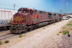 Weathered GE Dash9-44CW locomotive - Pelle Soeeborg