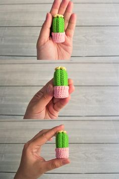crochet cute mini cactus and cactus flower keychain amigurumi / fast and easy Crochet Cactus Free Pattern, Crochet Keychain Pattern, Crochet Patterns Amigurumi, Fast Crochet, Cute Crochet, Mini Cactus, Cactus Flower, Cactus Keychain, Selling Crochet