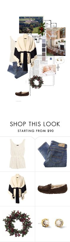"""""""Untitled #2401"""" by duchessq ❤ liked on Polyvore featuring J.Crew, Denim & Supply by Ralph Lauren, rag & bone, UGG Australia, Nearly Natural and Cartier"""