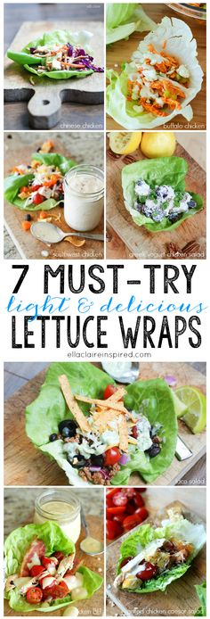7 Lettuce Wrap Ideas #healthy #fastfood #lowcarb