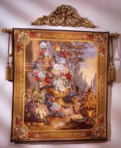 Bouquet Alfresco Tapestry. h1Bouquet Alfresco Tapestry_h1Bouquet Alfresco Tapestry. Created by skilled designers, this beautiful tapestry was jacquard-woven in the mills of Europe, utilizing decades of experience from the worlds finest weaver.. . See More Wall Tapestries at http://www.ourgreatshop.com/Wall-Tapestries-C1115.aspx