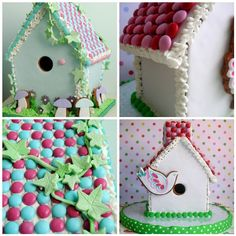 spring gingerbread houses