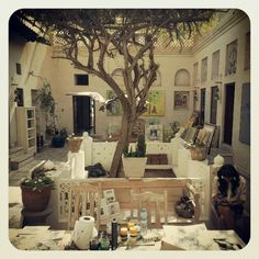 Beautiful Bastakiya courtyard, Dubai