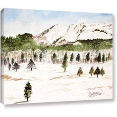ArtWall Derek Mccrea Pikes Peak Gallery-wrapped Canvas, Size: 36 x 48, Blue