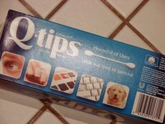 Using Q-Tips the way you're not supposed to use them