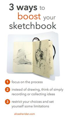 Are you nervous about your sketchbook, or not quite as productive as you want to be? Alice Sheridan shares a new way of thinking that will help you be more creative