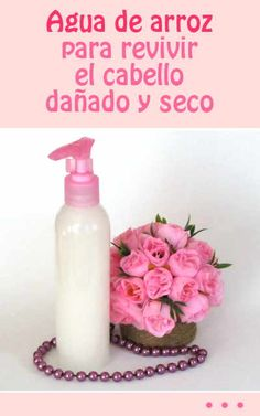 Agua de arroz para revivir el cabello dañado y seco