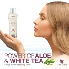 Sonya® Aloe Refreshing Toner with white tea extract provides vital moisture to help keep your skin properly hydrated. https://vimeo.com/85545790 http://360000339313.fbo.foreverliving.com/page/products/all-products/5-skin-care/279/usa/en Buy it http://istenhozott.flp.com/shop.jsf?language=en ID 360000339313 Need help? http://istenhozott.flp.com/contact.jsf?language=en
