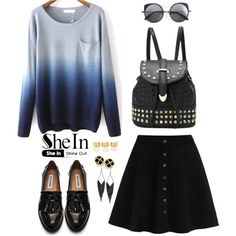 Shein 5. by amra-f on Polyvore featuring moda, Steve Madden, GUESS and Wood Wood