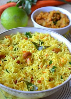 Carrot Lemon Rice