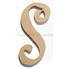 unfinished wooden letter lowercase s curlz font