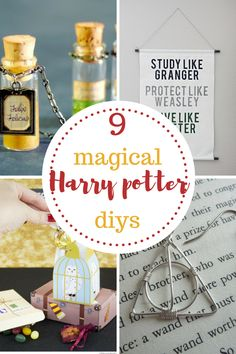 Cute Harry Potter home decor ideas! Learn how to make jewelry, wall hangings, and so much more!