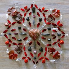 "Silvermoonspirit on Instagram: ""Crystal grid focussing on the root chakra ❤️ #crystalgrid #grounding #muladhara #rootchakra #chakra #chakrahealing #crystalhealing…"""