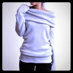 Light Grey Soft Sweater NWT Light Grey Super Soft Sweater. NWT. Runs Small. Sweaters